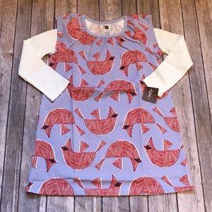 Tea Collection cardinal print dress size 5